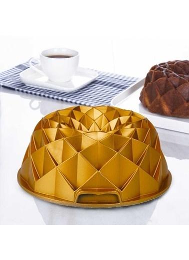 Acar Acar XDD-11745 Diamond Döküm Granit Kek Kalıbı Gold Renkli